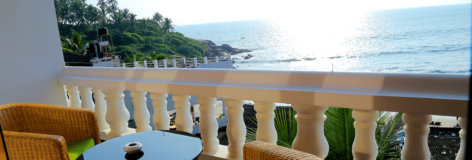 Best sea facing rooms in kovalam